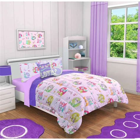walmart girl bedding sets 4 5 pieces kids princess fox cat girls animal comforter