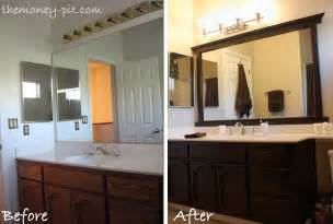 Bathroom Mirror Frame Ideas by Framing A Mirror Without Miter Cuts The Kim Six Fix