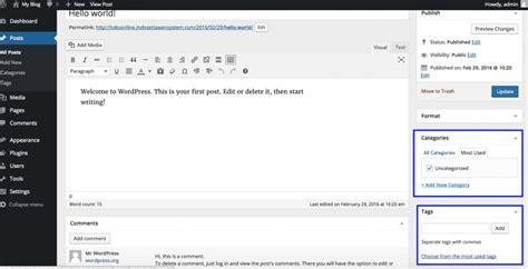 tutorial wordpress dasar pengenalan dasar wordpress 1 apa itu pages posts