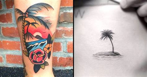 tattoo hot compress find your happy place with these desert island tattoos