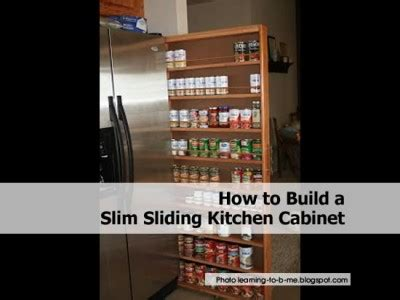 how to build a slim sliding kitchen cabinet