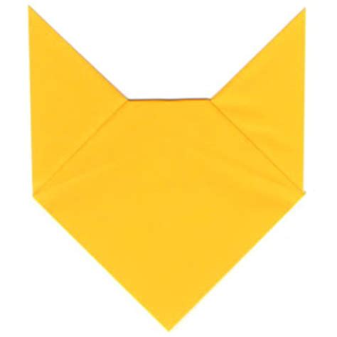Easy Origami Fox - simple origami fox picture pictures