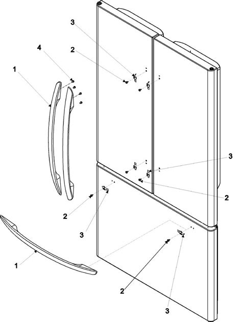kenmore elite refrigerator diagram handles trim diagram parts list for model 59673503202