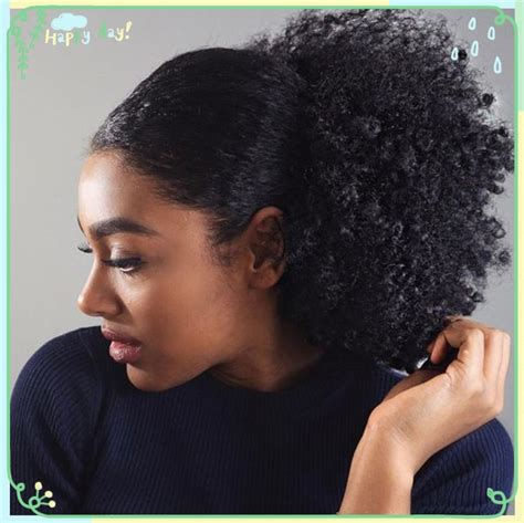 hair pony tail for african hair short high ponytails human hair for black women 120g kinky