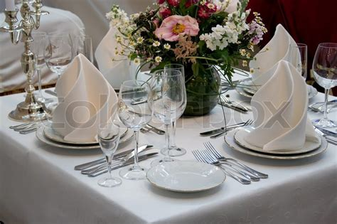 table cutlery set up a restaurant table set up with wine glass and cutlery