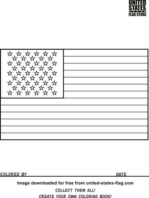 printable us state flags to color free american flag coloring pages
