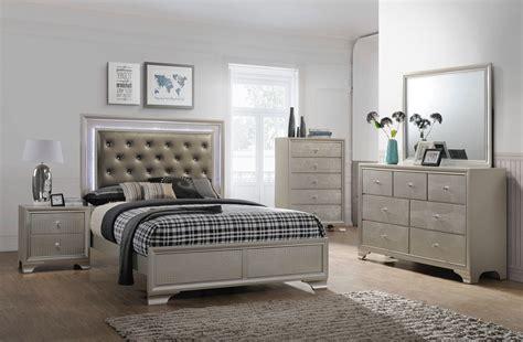 Led Bedroom Set by Lyssa Led Glam Bedroom Furniture Sets
