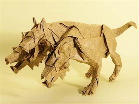 Origami Cerberus - cerberus by satoshi kamiya origami tessellations