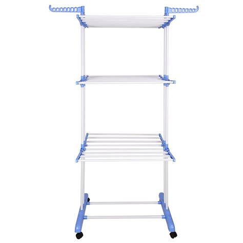 Heavy Duty Drying Rack by 66 Quot Laundry Clothes Storage Drying Rack Portable Folding
