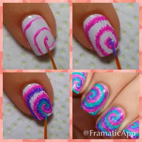 tutorial nail art dengan selotip tie dye nails tutorial super easy nails pinterest