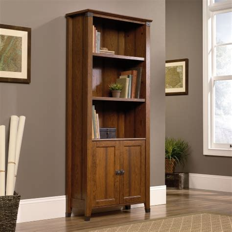 library bookcase with doors sauder carson forge library bookcase with doors cherry bookcases at hayneedle