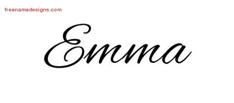 cursive name tattoo designs emma download free free name