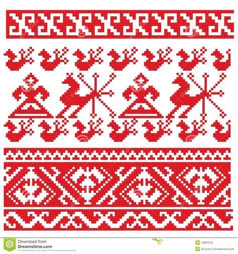 russian pattern art russian embroidery folk pattern stock vector