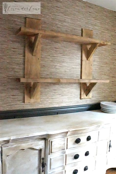 diy rustic floating shelves seeking lavendar