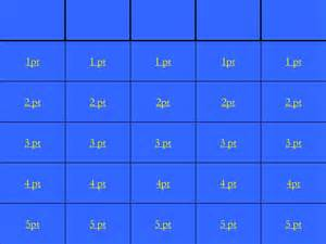 jeopardy printable template free jeopardy template e commercewordpress