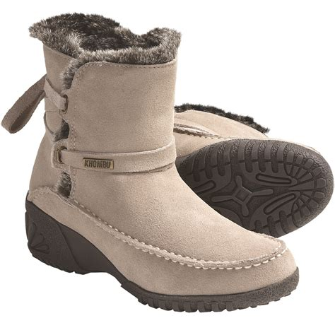 boots for snow khombu snow boots suede for save 56