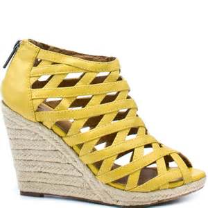 buy the comfortable and economical yellow wedge shoes