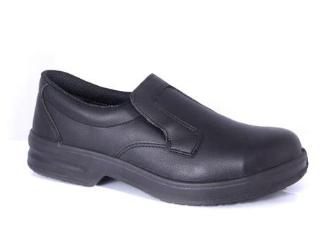 black slip on safety shoes workwear shop