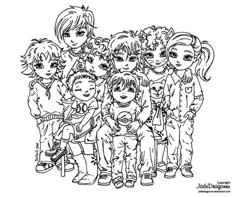 family portrait coloring page family portrait lineart by jadedragonne on deviantart