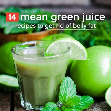 6 mean green juice recipes to get rid of belly fat