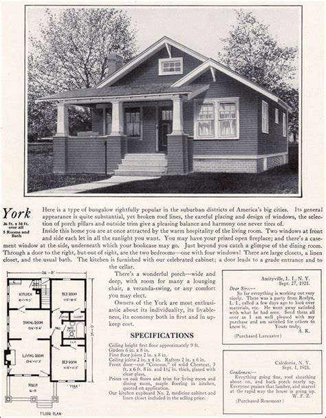 1920s bungalow floor plans 1920 s bungalow quot york quot floor plans pinterest models