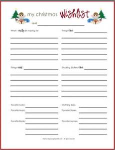 wish lists printables for boys girls amp everyone