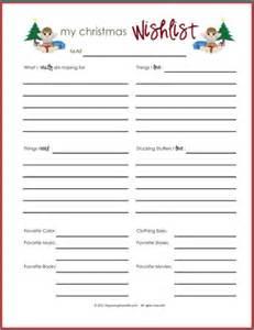 Wish lists printables for boys girls amp everyone organizing