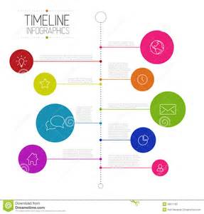 infographic timeline report template stock vector image