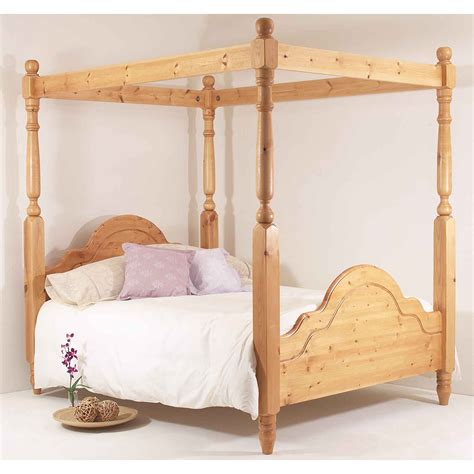 four post bed realwoods solid pine bed the classic four poster