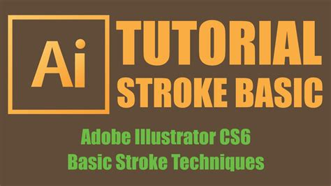 tutorial illustrator in bangla basic stroke techniques bangla adobe illustrator