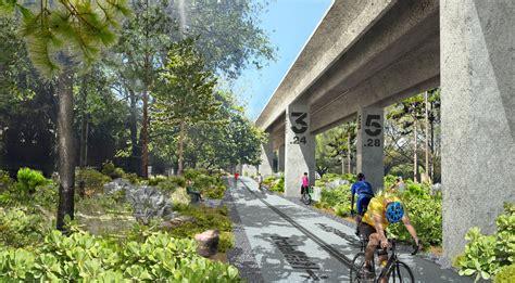 miamis  mile linear park  urban trail  underline