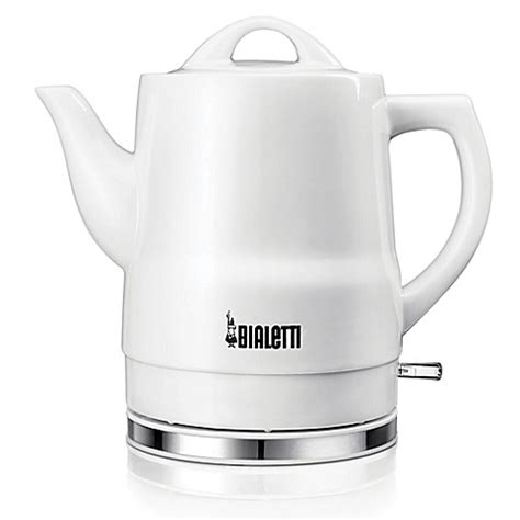 bed bath and beyond kettle bialetti 174 cordless 6 cup ceramic electric kettle in white