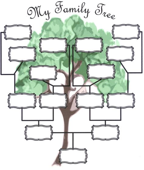 free printable family tree template family tree templates new calendar template site