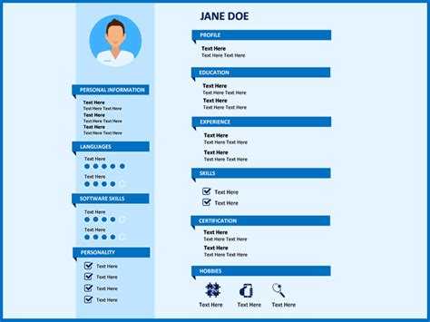Powerpoint Resume Template by Professional Resume Powerpoint Template Sketchbubble