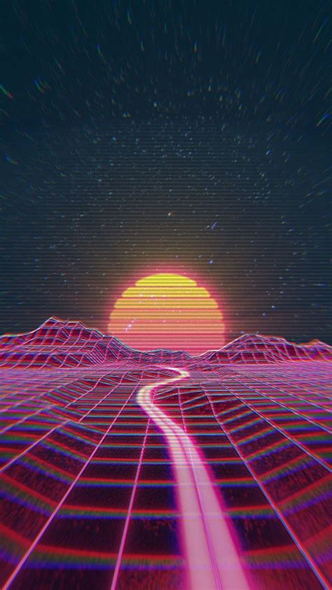 k iphone wallpaper retro wave synth wave rainbow synthwave in 2019 iphone wallpaper wallpaper vaporwave wallpaper