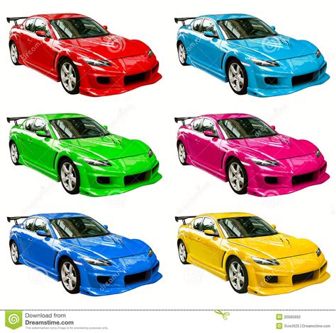 Colorful Cars Stock Photo Image Of Blue Cyan Color Car Colour L