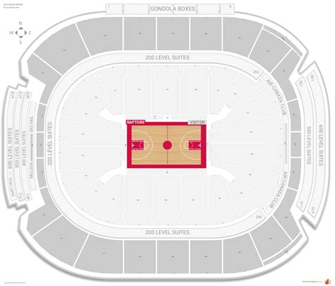 air canada centre seating raptors toronto raptors seating guide air canada centre