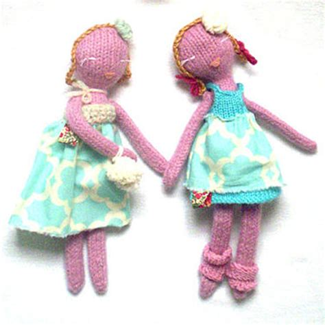Handmade Knitted Dolls - knitted dolls handmade diy doll patterns knit a