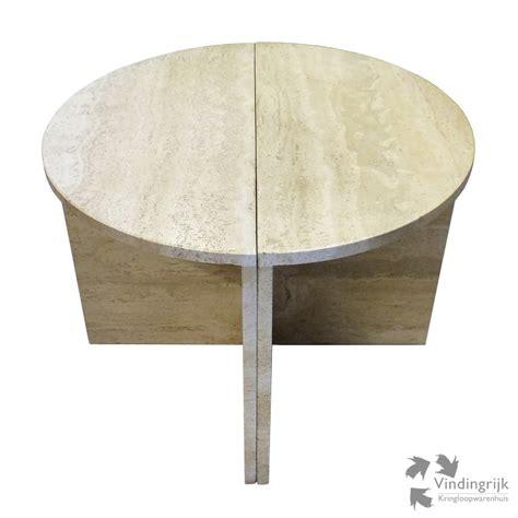 salontafel rond natuursteen bijzettafel marmer rond great antieke ronde tafel ca