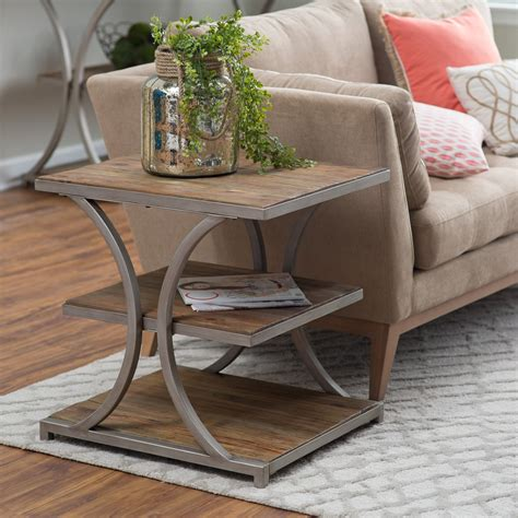 wood side table belham living edison reclaimed wood side table end