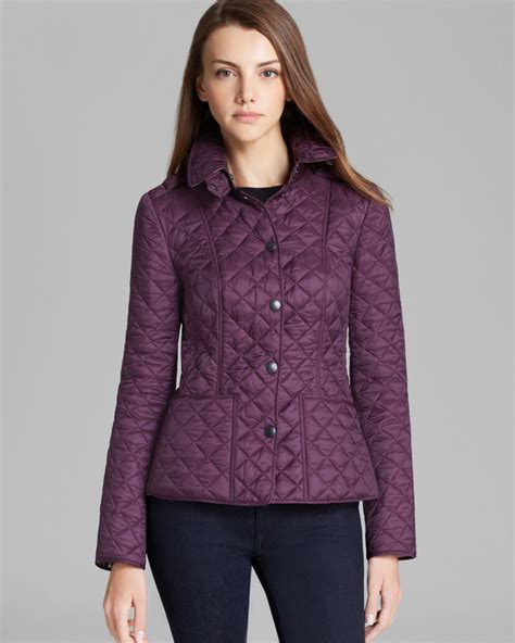 burberry brit kencott quilted jacket in purple beetroot