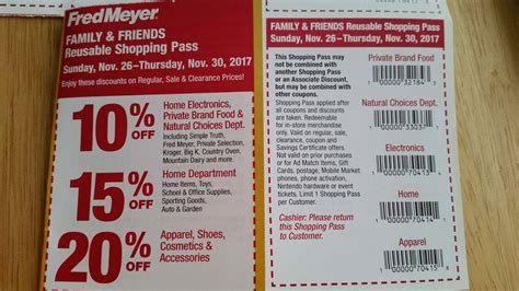 fred meyer friends family pass coupon coming 11 26