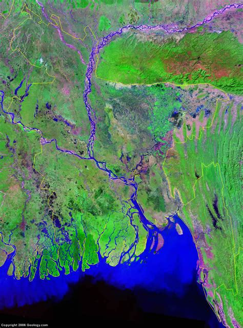 best satellite maps bangladesh map and satellite image at world