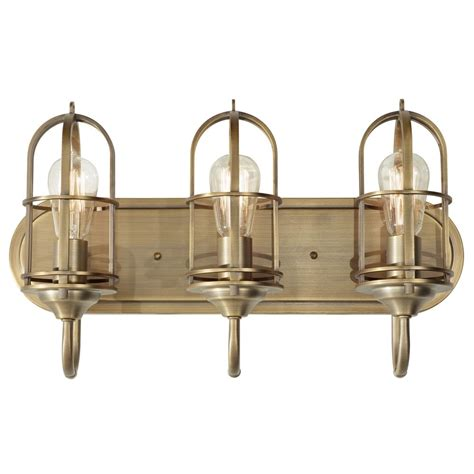 Antique Brass Bathroom Light Bathroom Light In Antique Brass Finish Vs36003 Dab Destination Lighting
