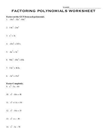 Factoring Polynomials Gcf Worksheet by Factoring Gcf Worksheet Worksheets Releaseboard Free Printable Worksheets And Activities