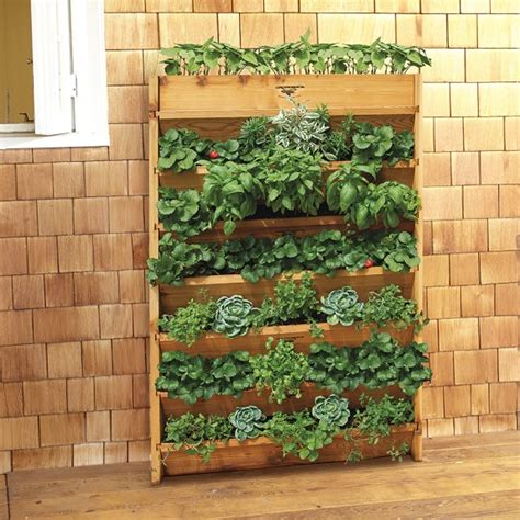 Vertical Gardening Planters Gronomic Cedar Vertical Planter Williams Sonoma