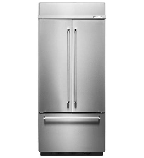 Kitchenaid Refrigerator by Kitchenaid 174 20 8 Cu Ft 36 Quot Width Built In Stainless