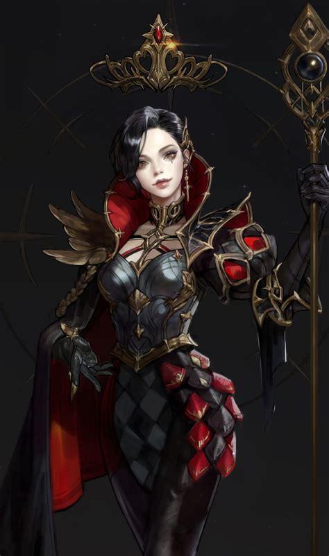 game design queens artstation chess black queen monable character