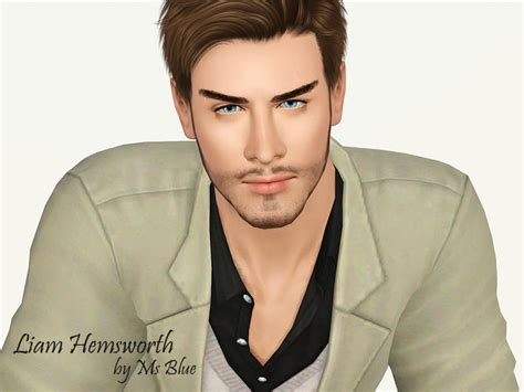 download hair male the sims 3 ms blue s liam hemsworth