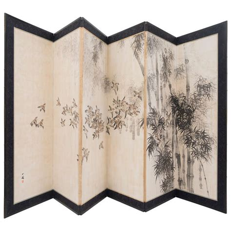 Paper Screens - japanese late 19th century six panel paper screen at 1stdibs